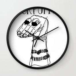 Sock Puppet Wall Clock