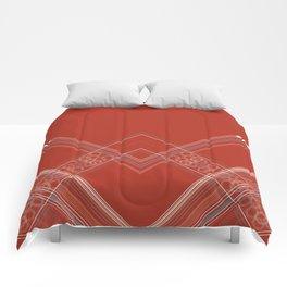Burnt Sienna Stripe Design Comforters