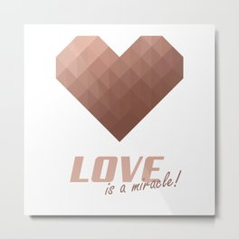 Rose Gold Heart Metal Print
