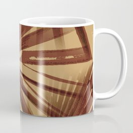 Burgundy and Coffee Tropical Beach Palm Vector Coffee Mug