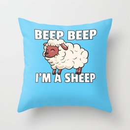 sheep house-sheep lamb slogan sayings Throw Pillow