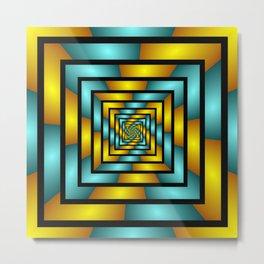 Colorful Tunnel 2 Digital Art Graphic Metal Print