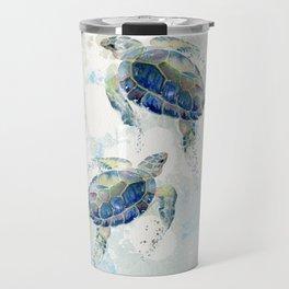Swimming Together 2 - Sea Turtle  Travel Mug