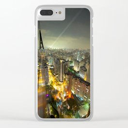 Sao Paulo Cityscape Clear iPhone Case