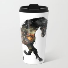Horse portrait (Distant Galaxy) Metal Travel Mug