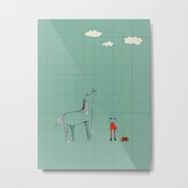 Charlie and The Gator Horse Metal Print