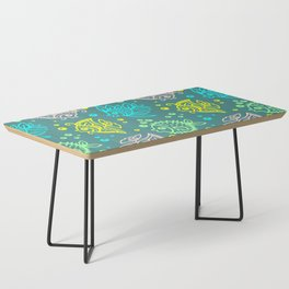 Fishes Batik Style Seamless Pattern Coffee Table