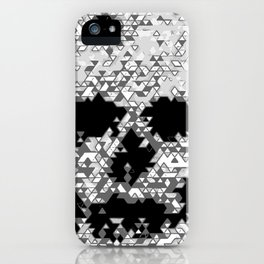 Geometric Light Grey Skull Composed Of Triangles iPhone Case