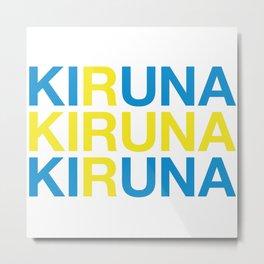 KIRUNA Swedish Flag Metal Print