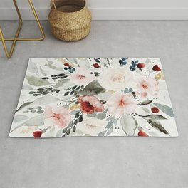 Loose Watercolor Bouquet Rug