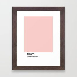 MANTONE® Fragile Masculinity Framed Art Print