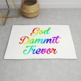 God Dammit Trevor Rug