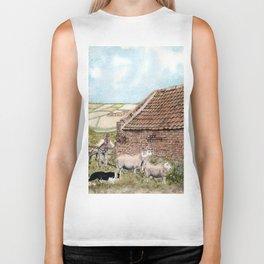 Farm Shed with Sheep Biker Tank