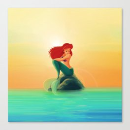 Beauty Mermaid Canvas Print