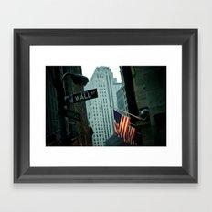 Wall Street  Framed Art Print