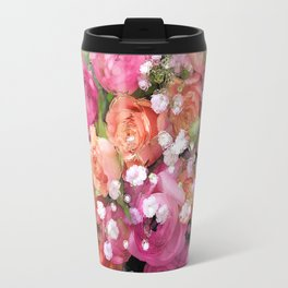 Baby's Breath and Candy Roses Travel Mug