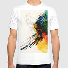 macaw White MEDIUM Mens Fitted Tee