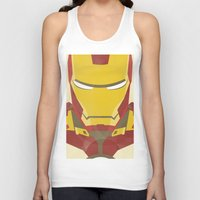 iron man Tank Tops featuring IRON MAN by LindseyCowley