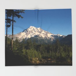 Sunset Mount Rainier Throw Blanket