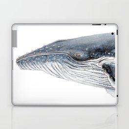 Humpback whale portrait Laptop & iPad Skin