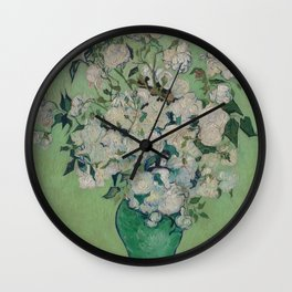 Vincent van Gogh - Roses Wall Clock