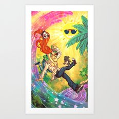 Tropical Wonderland Art Print