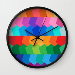 Colorful Beehive II - Abstract Wall Clock