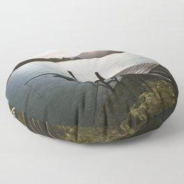 Salmon Sunrise Floor Pillow