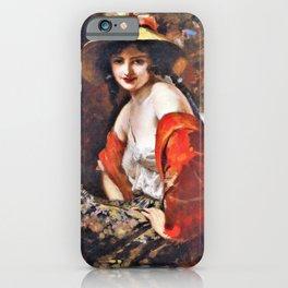 Leopold Schmutzler - Flower Girl - Digital Remastered Edition iPhone Case