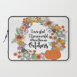 """Anne of Green Gables-L.M Montgomery-""""Octobers"""" design Laptop Sleeve"""