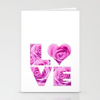 all you need is love Stationery Cards featuring Love is all you need by LebensART