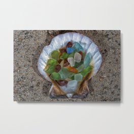 Beach Finds Metal Print