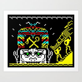 The Journey of the Sun page 2 (teletext) Art Print