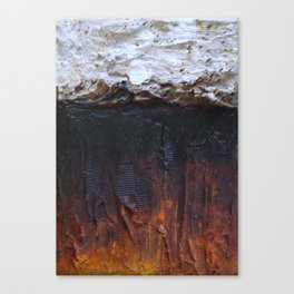 the burntout sound of modern silence Canvas Print