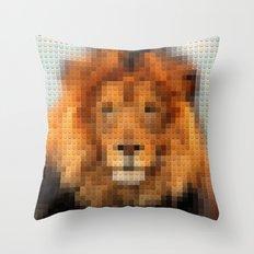 Lego Lion Throw Pillow