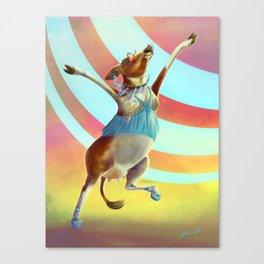 Cowchella - Music Festival Inspired Bovine Canvas Print