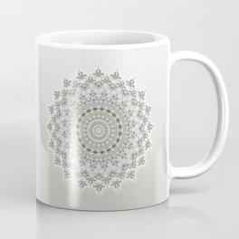 Mandala Flowers Grey Green Coffee Mug
