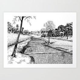 A walk to remember Art Print