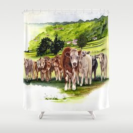 Herd It Throught the Grapevine Shower Curtain