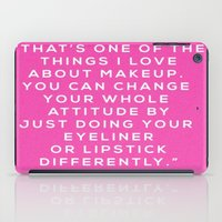 makeup iPad Cases featuring MAKEUP by I Love Decor