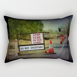 Stop Here When Light Is Red Rectangular Pillow
