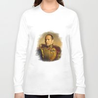 allyson johnson Long Sleeve T-shirts featuring Dwayne (The Rock) Johnson - replaceface by replaceface