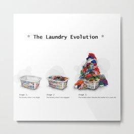 Laundry Evolution Metal Print