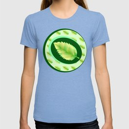 Green leaf of the tree. Leaf linden or apple for background or a logo or a pattern. T-shirt