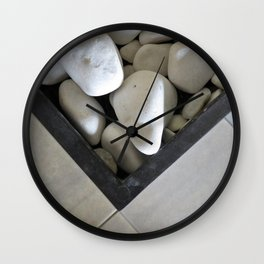 Straights and curves Wall Clock