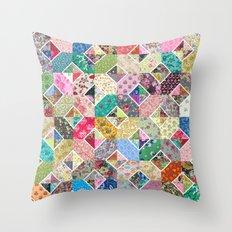Betty's Diamond Quilt Throw Pillow