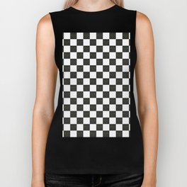 Secret Chicken Checks - BW Biker Tank