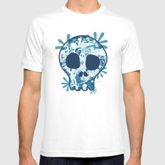 Skull White Mens Fitted Tee SMALL