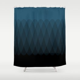 Blue to Black Ombre Signal Shower Curtain