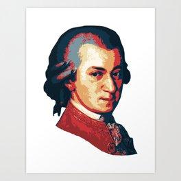 Mozart Minimalistic Pop Art Art Print